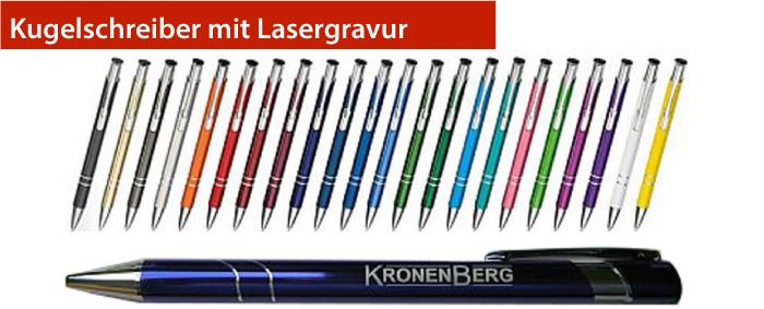 Kugelschreiber mit Lasergravur